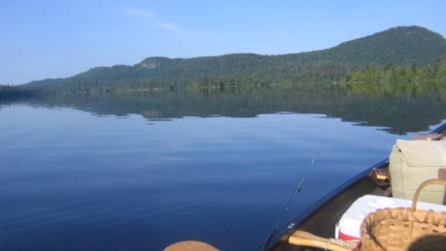 Poling a Canoe Up Allagash Stream