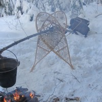 Hanging Pot With Snowshoes