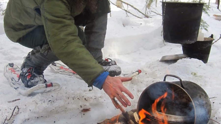 Cook pot reflector oven.  We didn't bring a reflector oven on the Boreal Snowshoe…