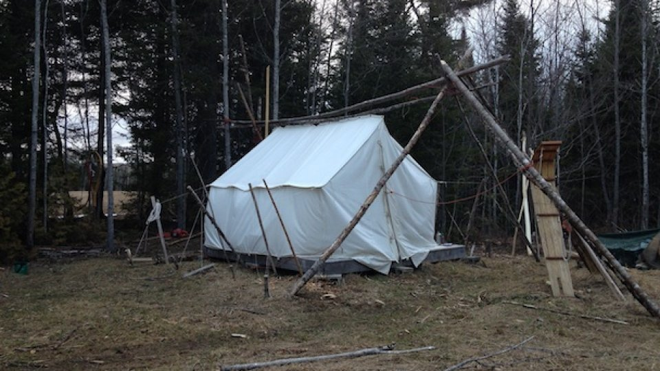 Building A Wall Tent Platform And Knee Wall