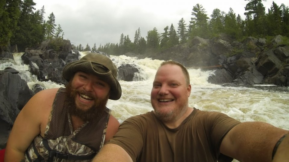 Tim Cole and Tim Smith at Allagash falls on the recent Wilderness Canoe Expedition…