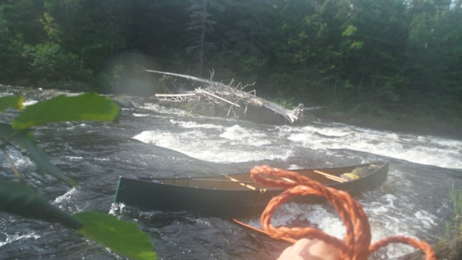 Near-Tragedy On Webster Stream