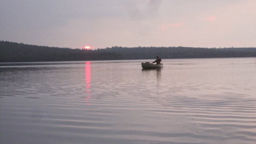 Sunset on Telos Lake, Allagash Wilderness Waterway, Maine