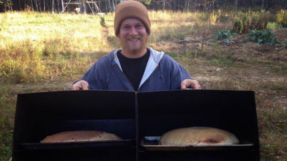 Artisan sourdough bread, reflector oven style