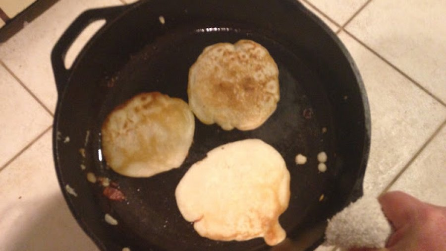 Making a grip of sourdough pancakes this morning