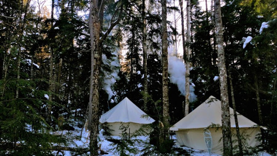Peaceful Winter Camp