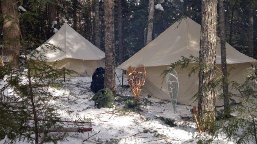 Camp 2, nestled among the hemlocks and balsam fir