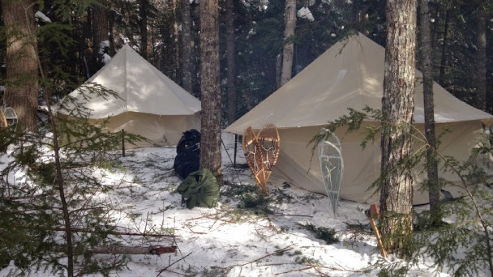 Camp 2, nestled among the hemlocks and balsam fir