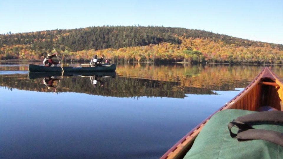 Canoe reflection