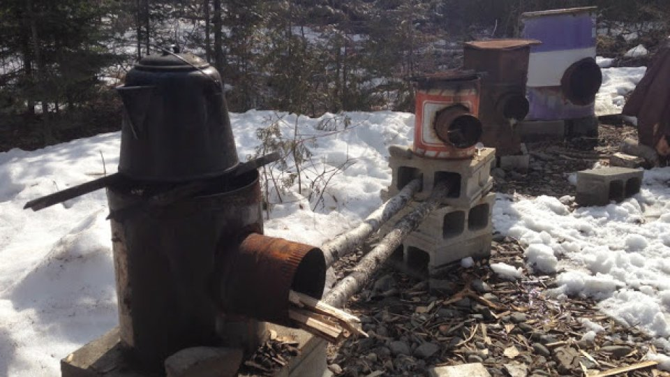 Field school rocket stoves