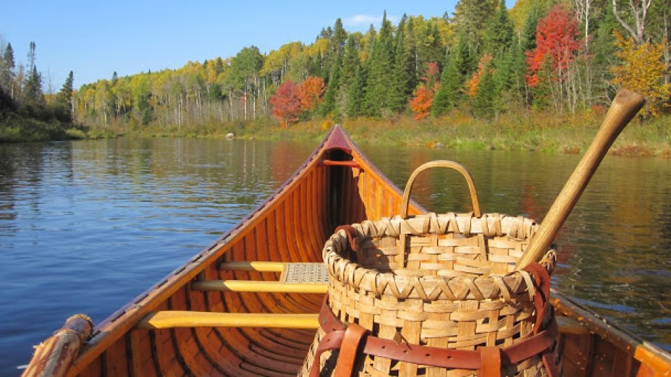 Canoe, Pack Basket, Axe