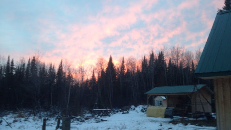 Aroostook twilight at the field school