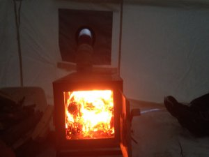 Hot Inside The Tent Stove