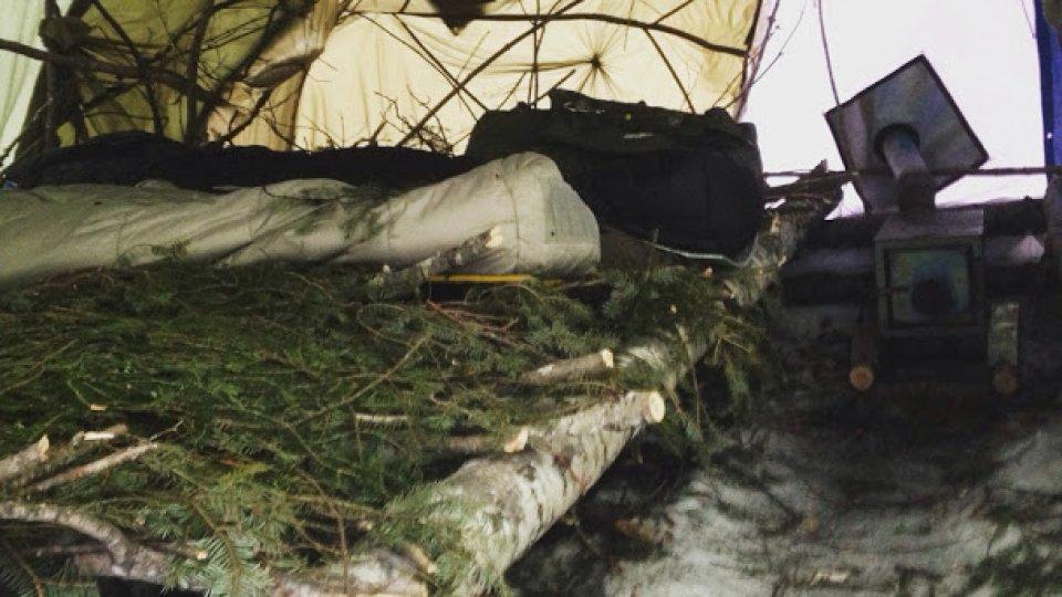 Group shelter built last week