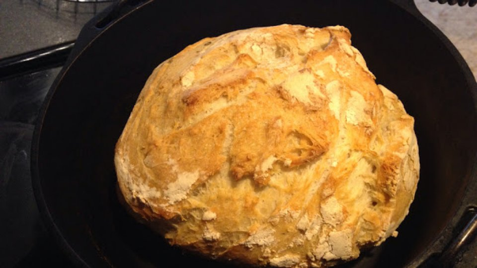 Up early to surprise my family with a loaf of dutch oven sourdough bread