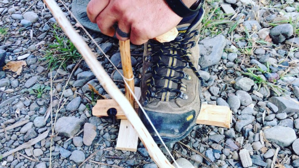 Friction fire clinic: bow drill on a Monday