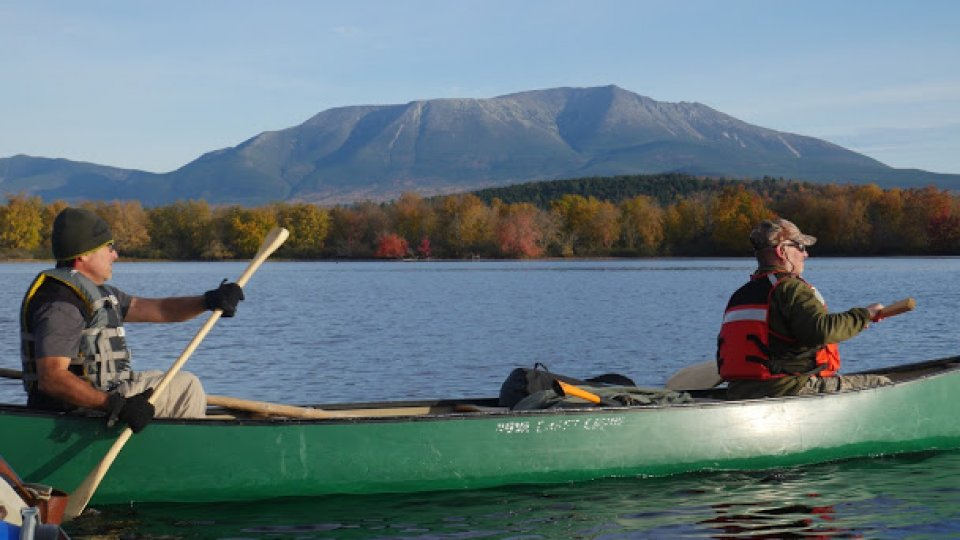 Paddling past Maine's highest point, Mt