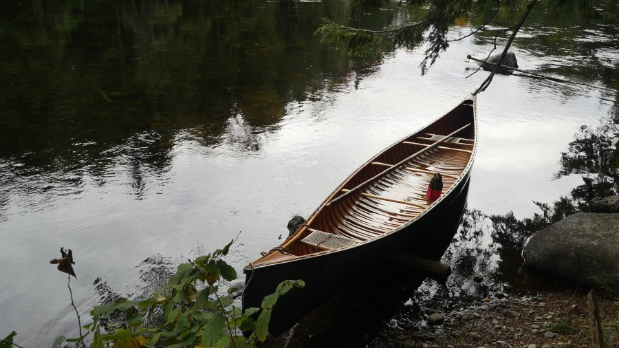 Canoe In The River
