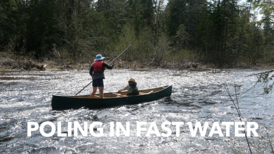Poling A Canoe In Fast Water