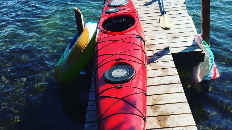 Sea Kayak Self-Rescue Practice