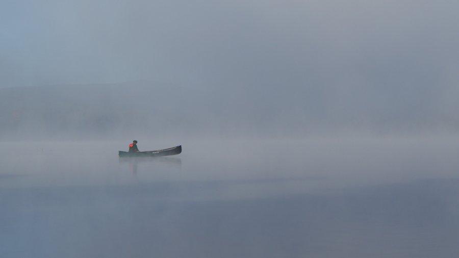 Misty Morning, Remote Lake