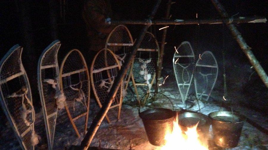 Drying Snowshoe Bindings