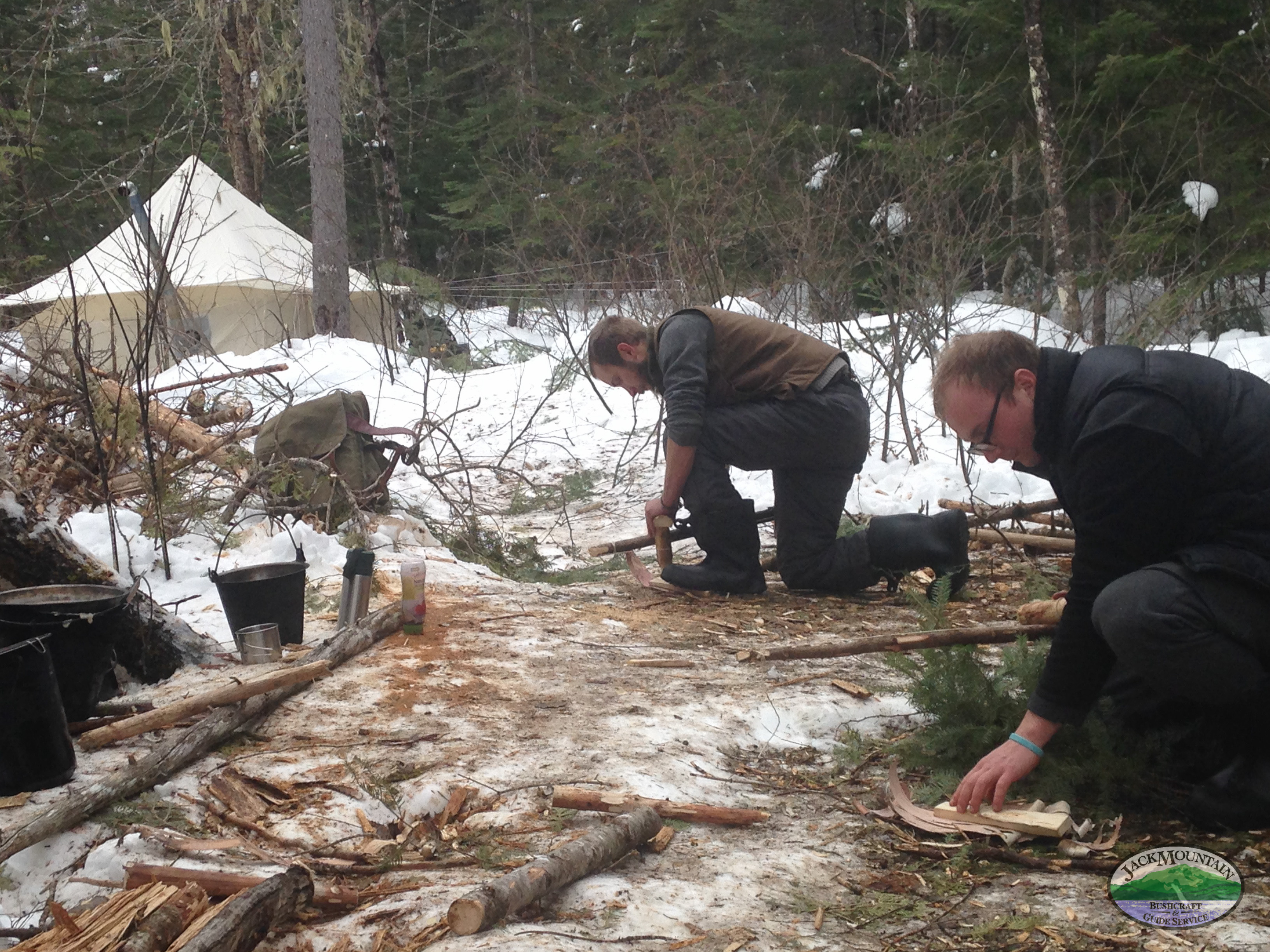 Bow Drill Firemaking On The Snowshoe Trail