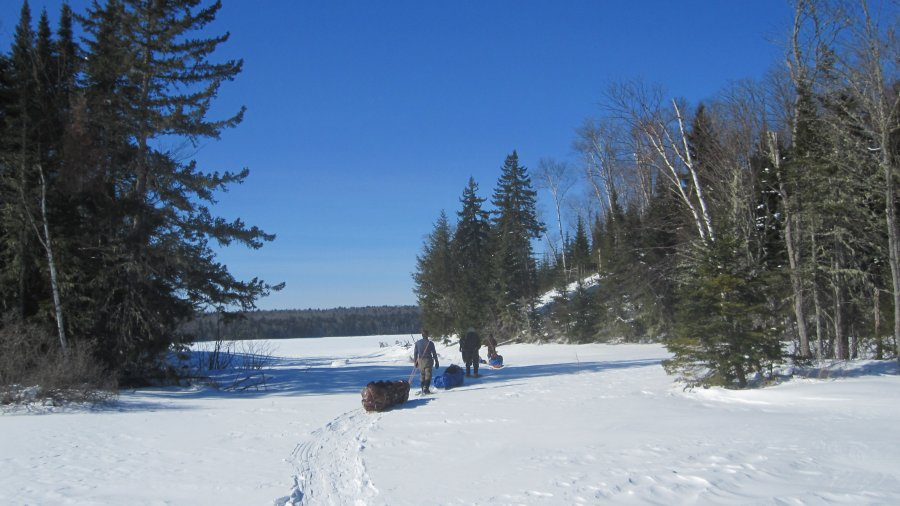 Snowshoeing Across The Crown Of Maine