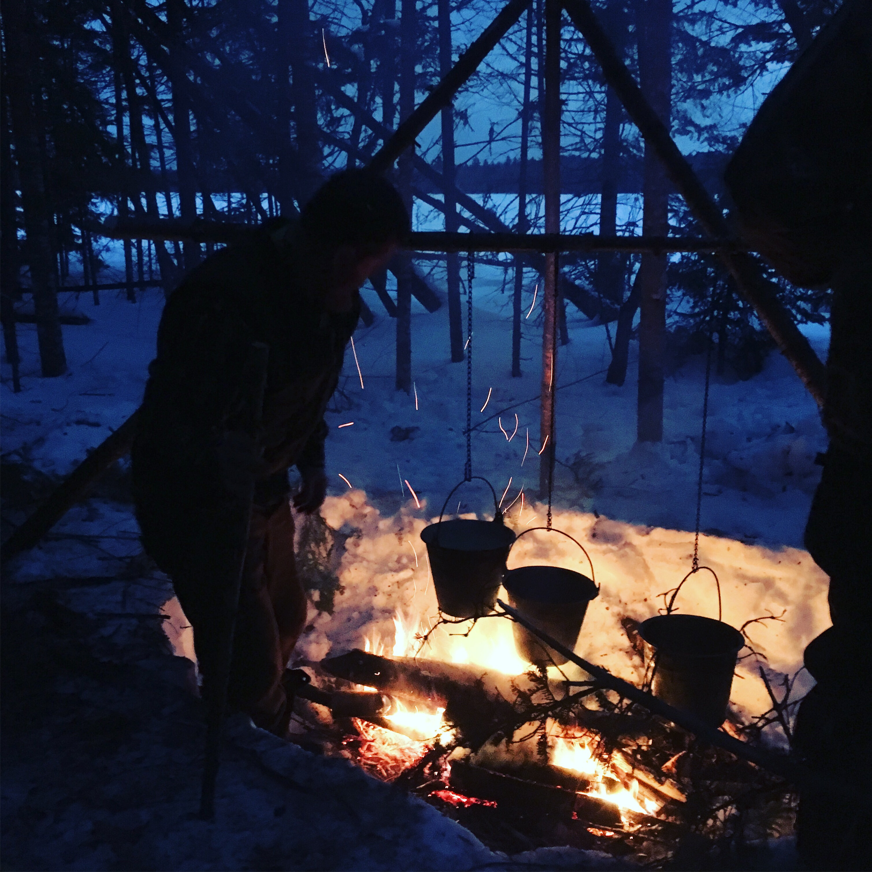 Cooking Supper On The Boreal Snowshoe Expedition