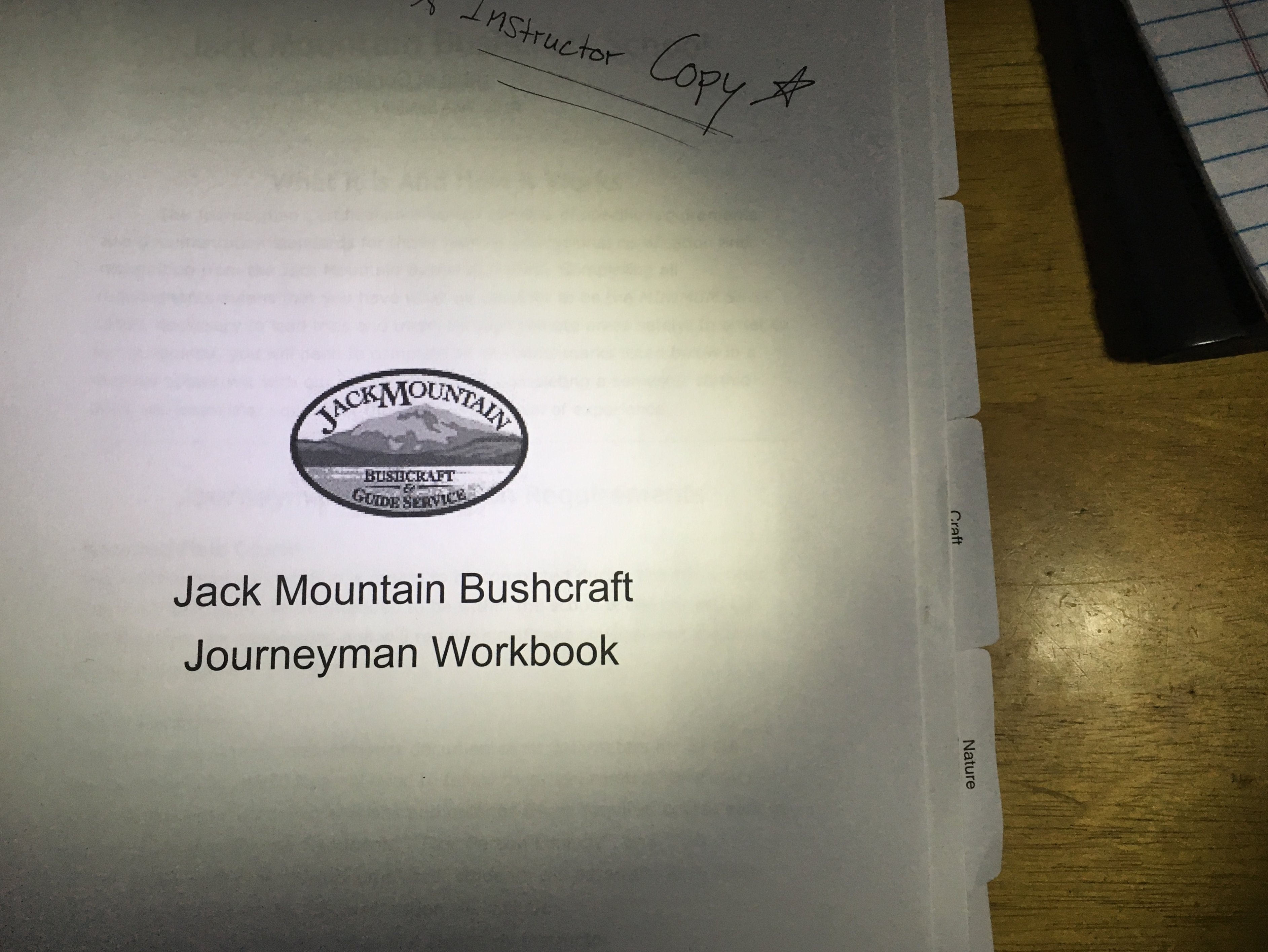 New Workbook For JMBS Journeyman Certification