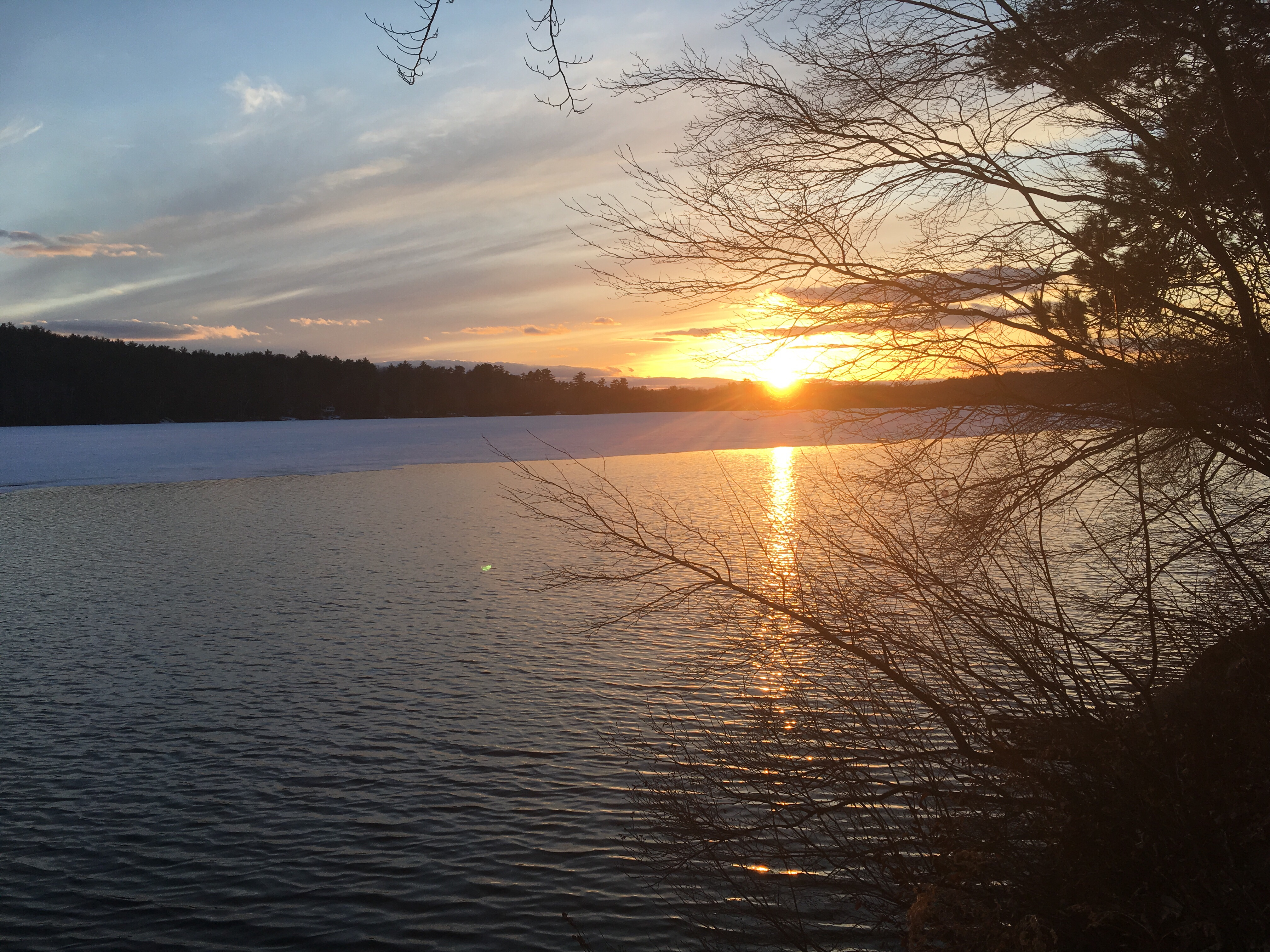 Sunset Over Open Water