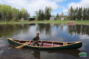 Christopher in his EM White canoe.