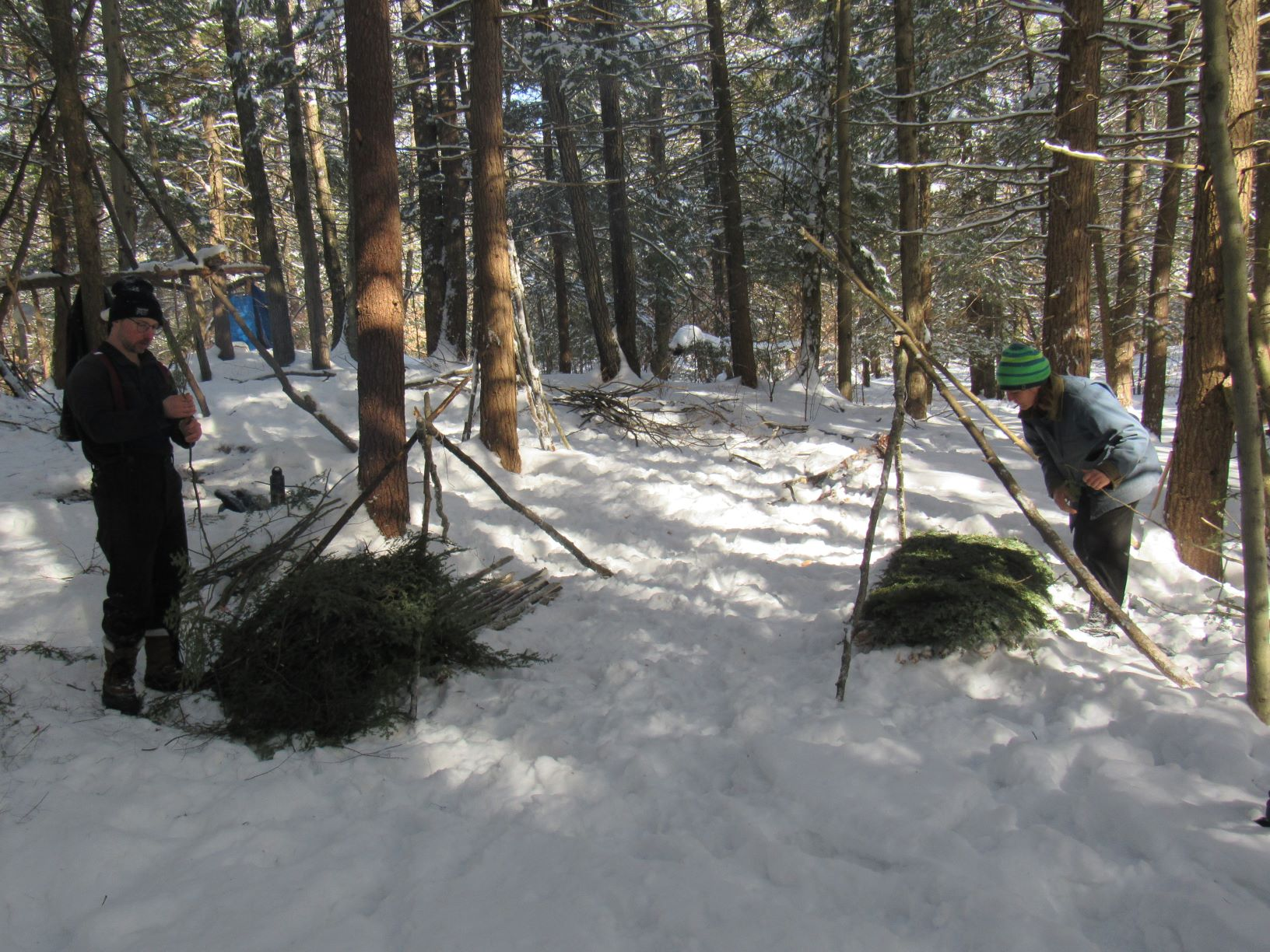 Mini Documentary On The Friluftsliv Forest Program Students Taking Part In An Open Fire Winter Overnight