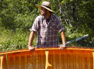 Paul Sveum With His Wooden Canoe