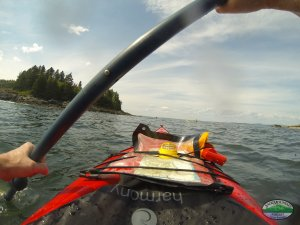 Kayaking on the Maine coast